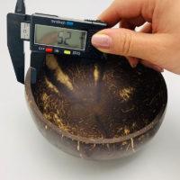 Натуральная кокосовая миска ручной работы