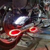 Светодиодная подсветка для выхлопной трубы мотоцикла