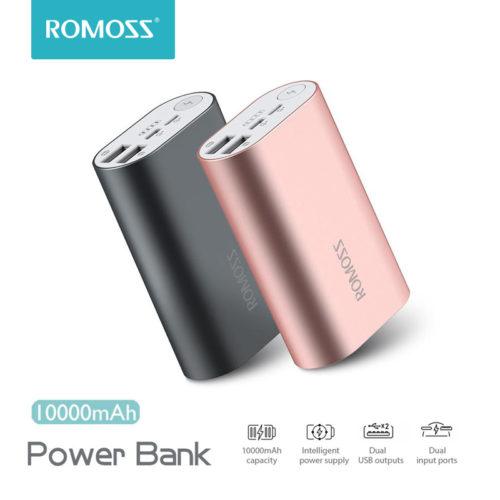 ROMOSS ACE A10 10000 мАч Dual USB Power Bank Внешний аккумулятор портативное зарядное устройство