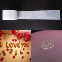 Лента клеевая для крепления шаров (100 шт в ленте)