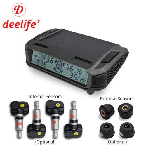 Deelife M1 система контроля давления в шинах на солнечной батарее