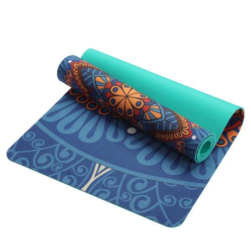 Нескользящий коврик для йоги с узором 6 мм