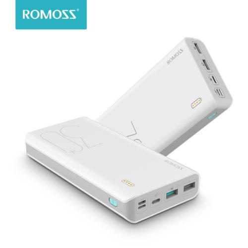 ROMOSS Sense 8+ 30000 мАч Power Bank Внешний аккумулятор портативное зарядное устройство с быстрой зарядкой