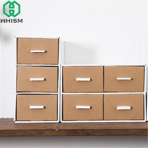 Минималистичный картонный настольный органайзер коробка с ящиками