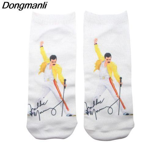 Белые носки с Freddie Mercury (Фредди Меркьюри) из Queen