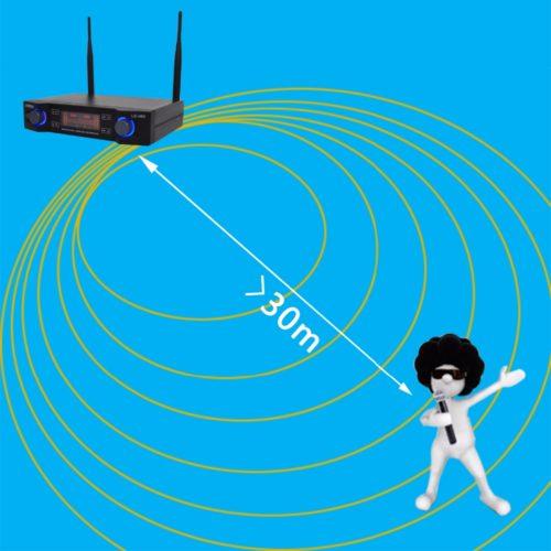 Lomeho LO-U02 караоке система с 2 беспроводными микрофонами