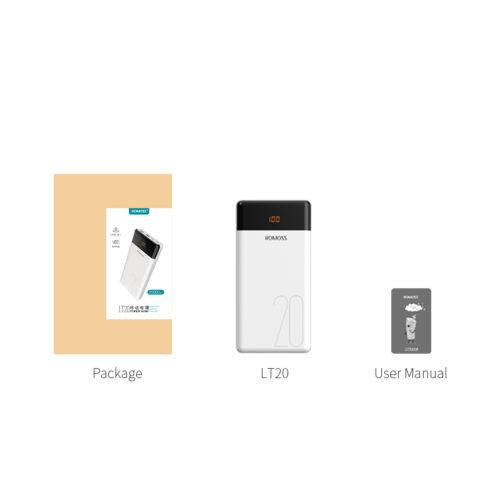 ROMOSS LT20 Dual USB 20000 мАч Power Bank Внешний аккумулятор портативное зарядное устройство