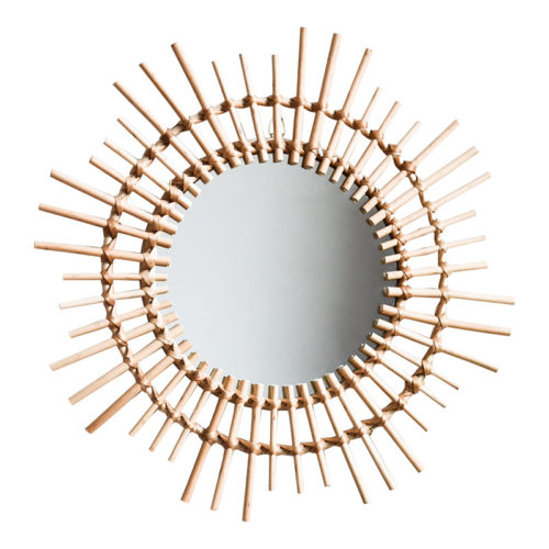 Cane Sunburst круглое зеркало в виде солнца