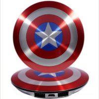 Power bank портативное зарядное устройство в виде щита Капитана Америки 7000 мАч