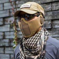 Тактическая маска с защитой для ушей для пейнтбола