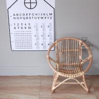 Детское кресло из ротанга