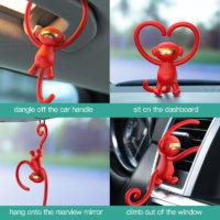 Baseus Гибкий автомобильный ароматизатор воздуха в виде обезьяны