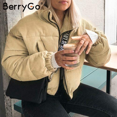 Короткая женская вельветовая куртка пуховик (бежевая или коричневая)