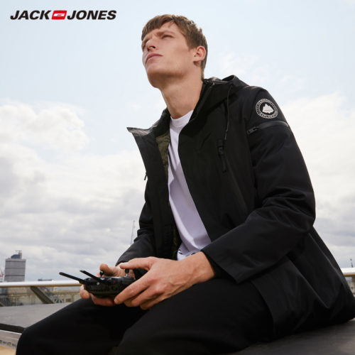 JackJones Мужская зимняя парка куртка с капюшоном