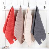 Вафельное хлопковое полотенце для лица или рук 33×72 см