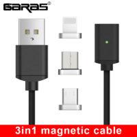 GARAS магнитный кабель провод для зарядки Type C / Micro USB / Lightning