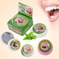 Тайская зубная паста для отбеливания зубов 10 / 25 г (гвоздика, мята, кокос)