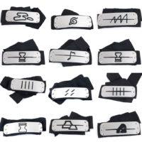 Налобные повязки с символами из Наруто