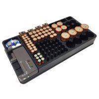 Органайзер для батареек в комплекте с тестером