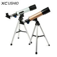 XC USHIO F36050M Профессиональный астрономический монокулярный телескоп со штативом