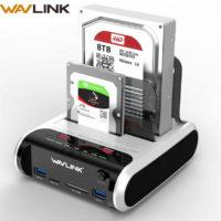 Wavlink Dual Bay SATA HDD внешний жесткий диск док-станция 5 Гбит/с