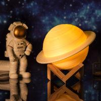 Настольная 3D лампа светильник в виде планеты Сатурна