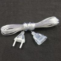 Прозрачный удлинитель провод для гирлянды 3 м