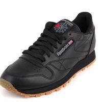 Кожаные классические кроссовки Reebok (черные или белые)