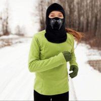 Зимняя теплая флисовая балаклава маска на голову с фильтром от холодного воздуха для катания на велосипеде