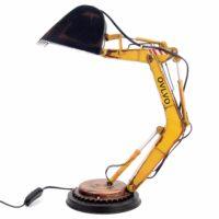 Железная винтажная настольная декоративная лампа в виде ковша экскаватора