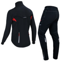 X-TIGER ветрозащитная светоотражающая зимняя теплая флисовая одежда костюм для велоспорта
