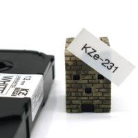 Картридж для принтера этикеток Brother TZe-231 (12 мм x 8 м, шрифт черный)
