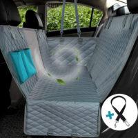 Чехол для на автомобильное заднее сиденье с сеткой, молнией и карманами для перевозки собак