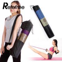 Сетчатая регулируемая сумка с ремнем для переноски коврика для йоги