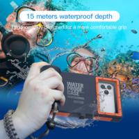 Профессиональный водонепроницаемый противоударный чехол для дайвинга (15 метров) для iPhone и Samsung