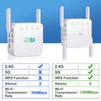 Беспроводной Wifi роутер ретранслятор с поддержкой AC 2,4 + 5 ГГц, 1200/300 Мбит/с