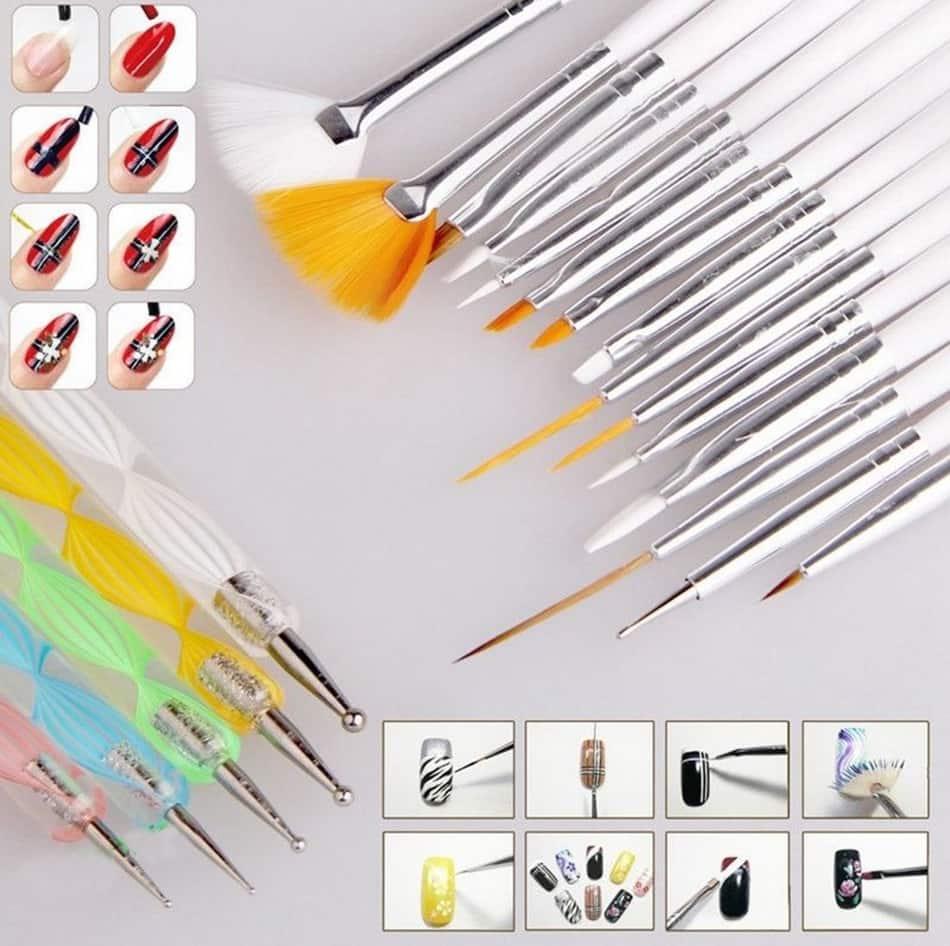 Кисти и инструменты для дизайна ногтей